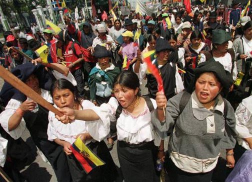 ECUADOR INDIAN PROTESTS