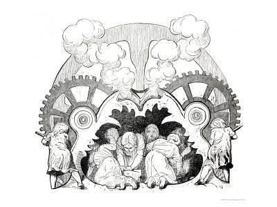 Illustration for a  poem on child labour by victor hugo circa 1880 published by Hetzel